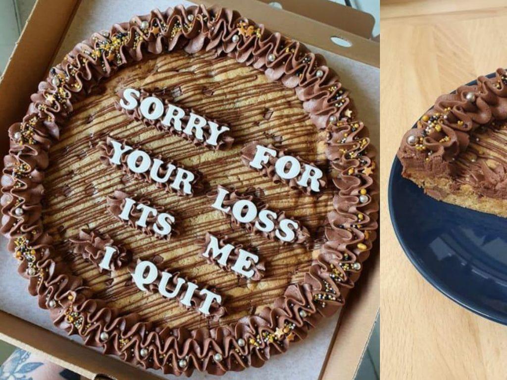 Berhenti Kerja, Wanita Ini Bikin Kue dengan Ucapan Sindiran untuk Bosnya!