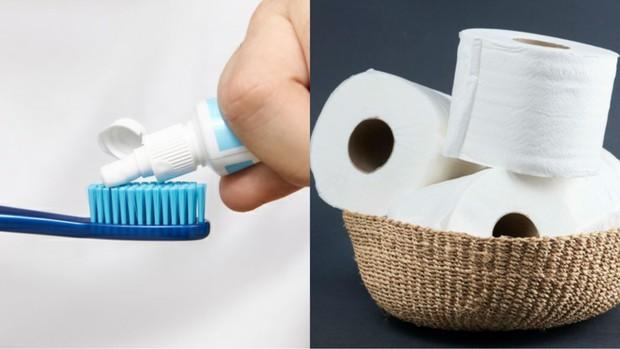 Pasta gigi dan tisu putih/freepik.com