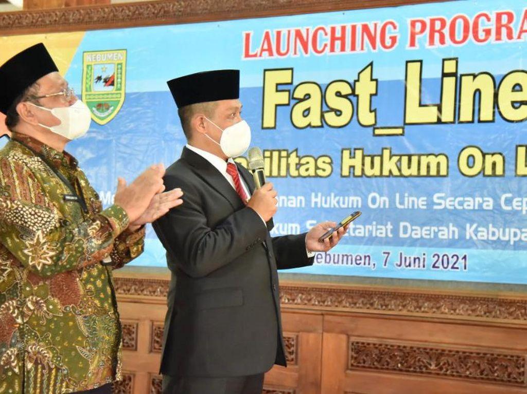 Fast Line Diluncurkan, Produk Hukum Pemkab Kebumen Mudah Diakses Publik