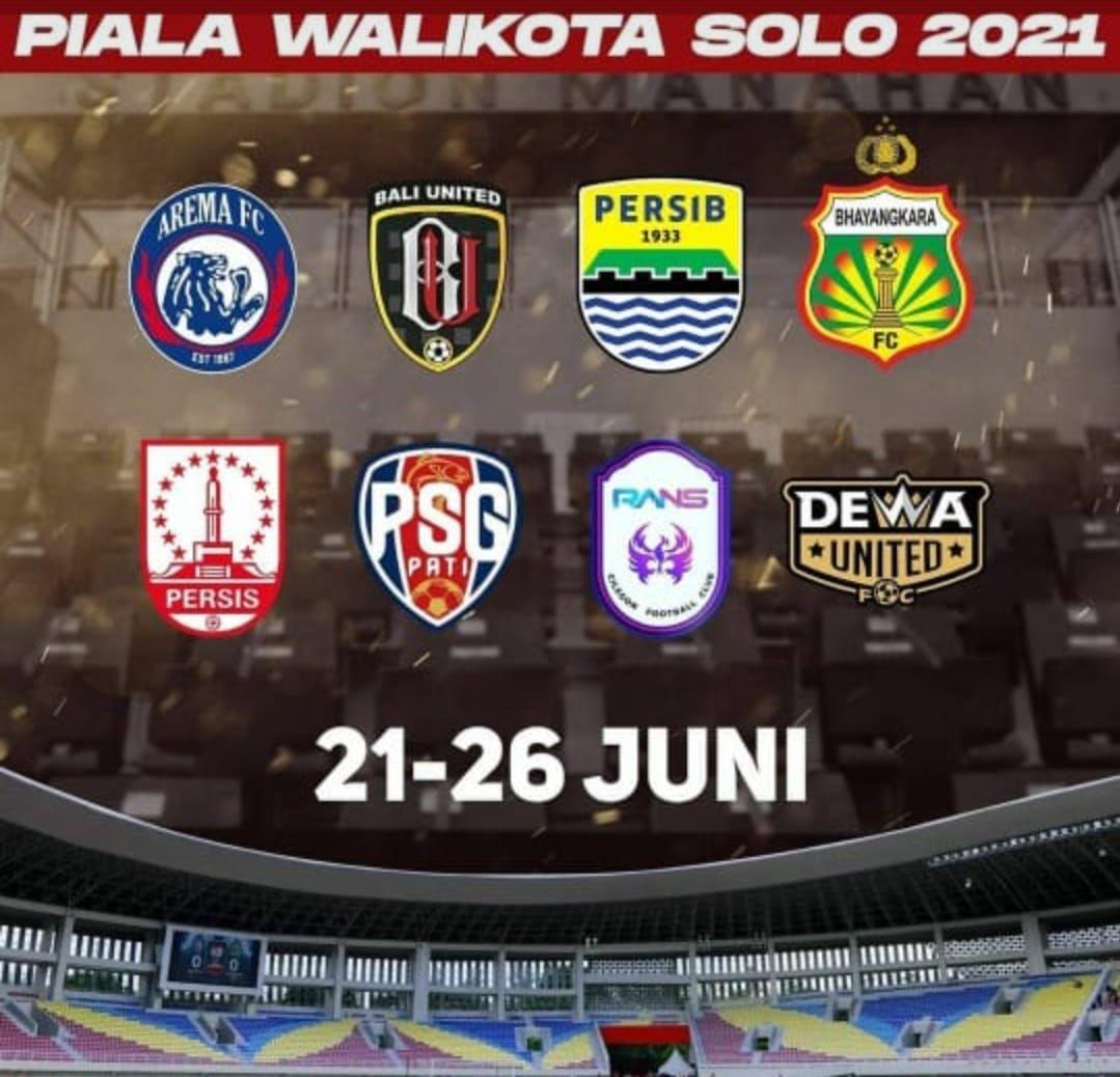 Delapan tim peserta Piala Wali Kota Solo 2021