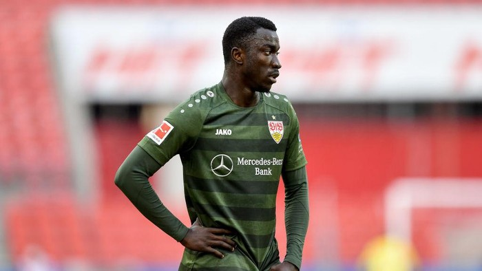 COLOGNE, GERMANY - FEBRUARY 20: Silas Wamangituka of VfB Stuttgart during the Bundesliga match between 1. FC Koeln and VfB Stuttgart at RheinEnergieStadion on February 20, 2021 in Cologne, Germany. Sporting stadiums around Germany remain under strict restrictions due to the Coronavirus Pandemic as Government social distancing laws prohibit fans inside venues resulting in games being played behind closed doors. (Photo by Frederic Scheidemann/Getty Images)