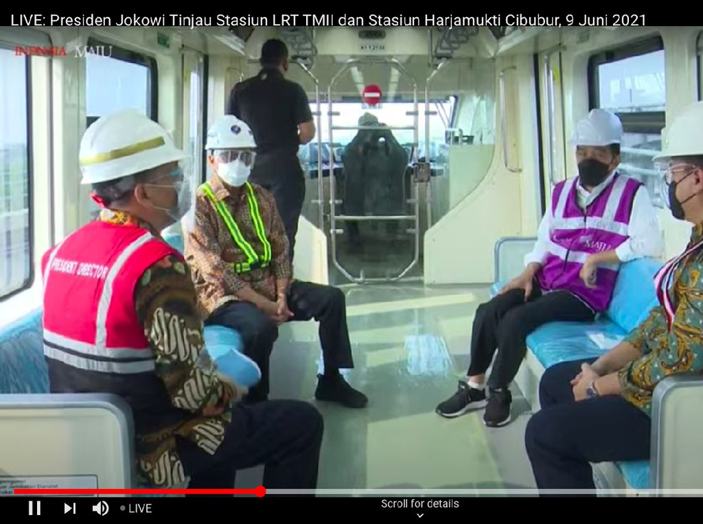 Momen Jokowi Jajal LRT Jabodebek: Keretanya Halus, Nyaman Sekali