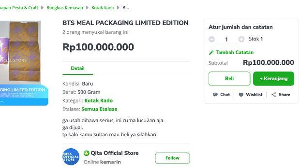 BTS Meal dijual online