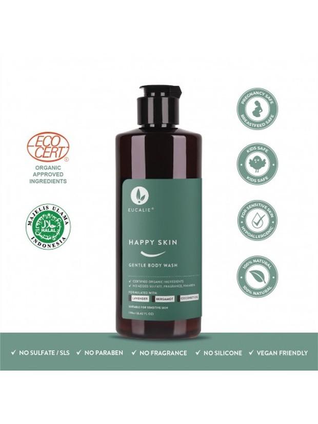Eucalie Organic Gentle Body Wash - Happy Skin