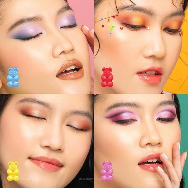Hasil swatch warna palette / sumber : instagram.com/dearmebeauty