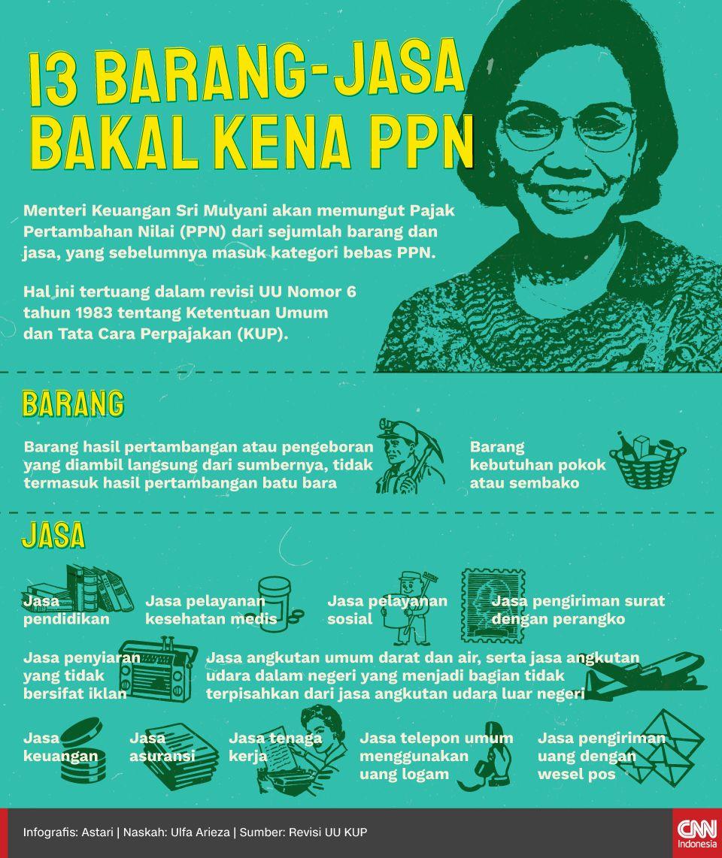 Infografis - 13 Barang-Jasa Bakal Kena PPN
