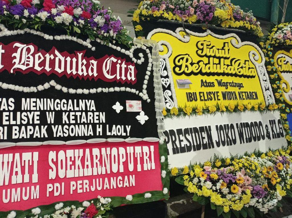 Istri Yasonna Meninggal, Jokowi hingga Anies Kirim Karangan Bunga