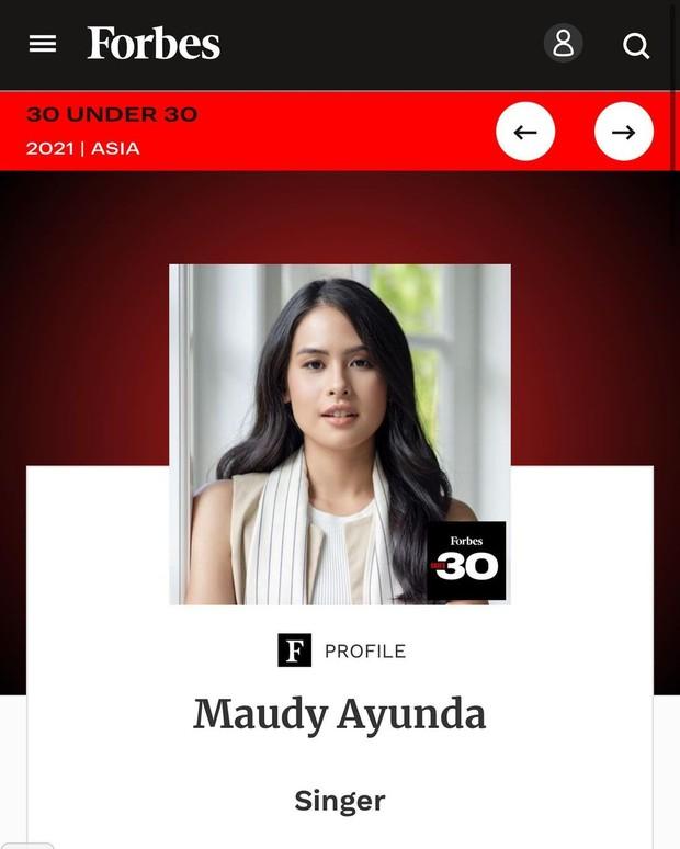 Maudy Ayunda Forbes