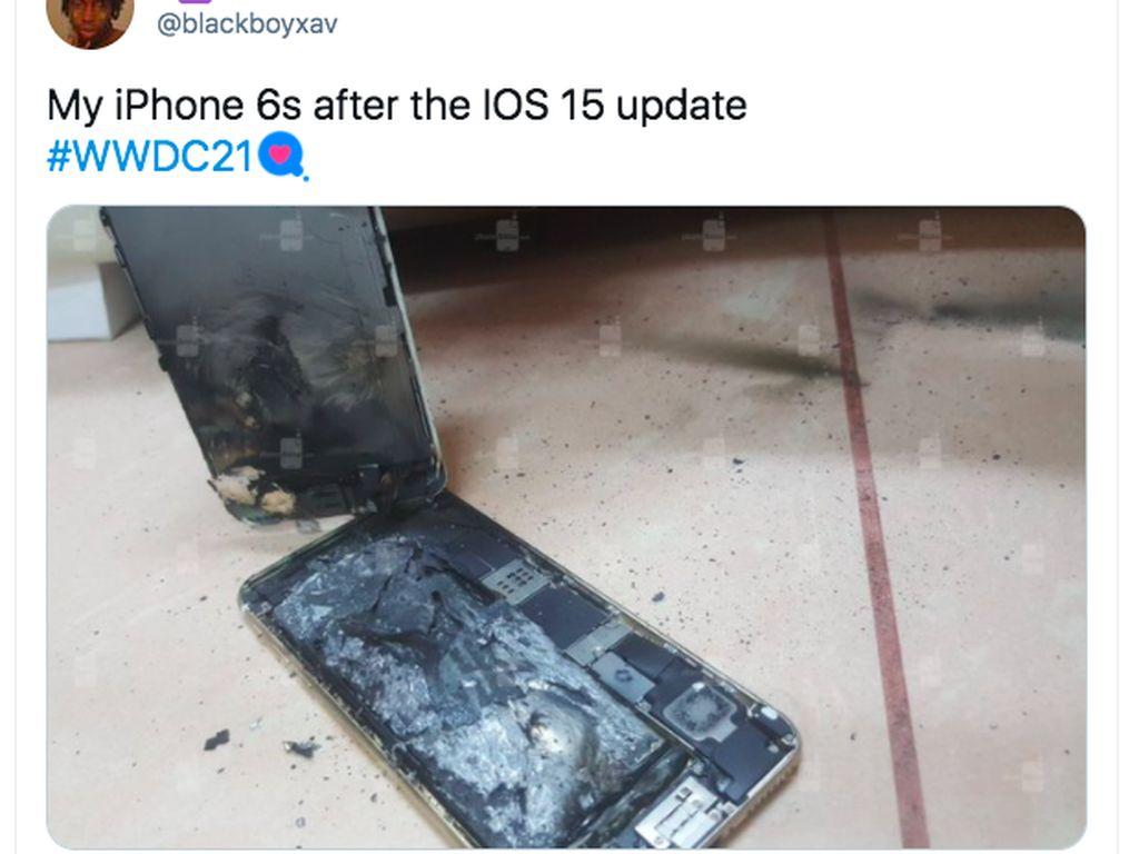 Meme Kocak iPhone 6S Nggak Kuat Dapat iOS 15