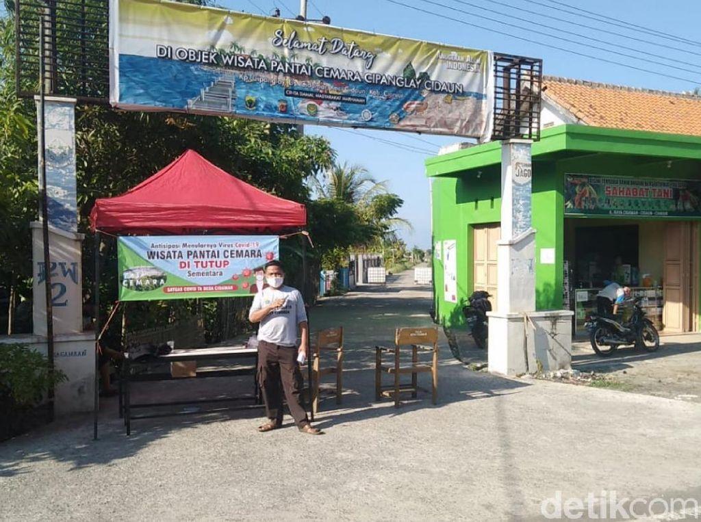 14 Pedagang Positif COVID-19, Pantai Cemara Cianjur Ditutup Sementara