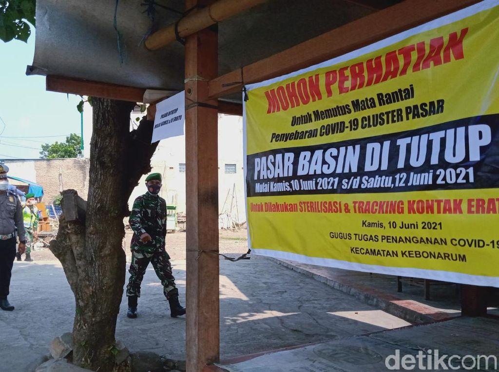 Pasar Basin Klaten Lockdown Gegara Ada Pedagang Kena Corona