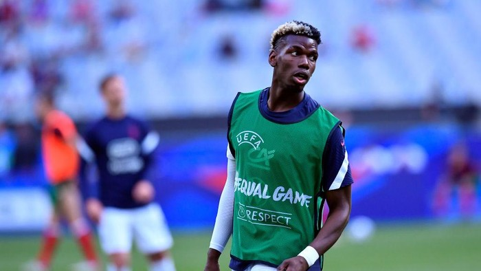 PARIS, FRANCE - JUNE 08: Paul Pogba of France warms up befofe the international friendly match between France and Bulgaria at Stade de France on June 08, 2021 in Paris, France. (Photo by Aurelien Meunier/Getty Images)