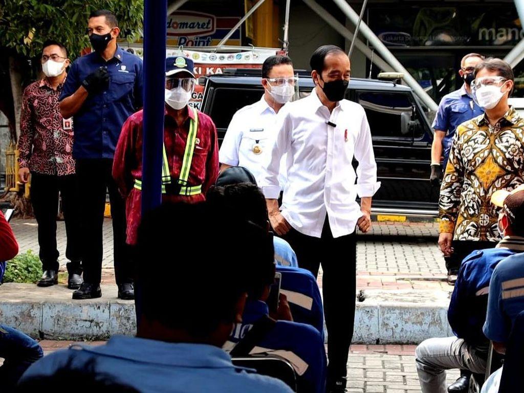 Viral Kerumunan Usai Jokowi Cek Vaksinasi di Tanjung Priok, Ini Kata Polisi