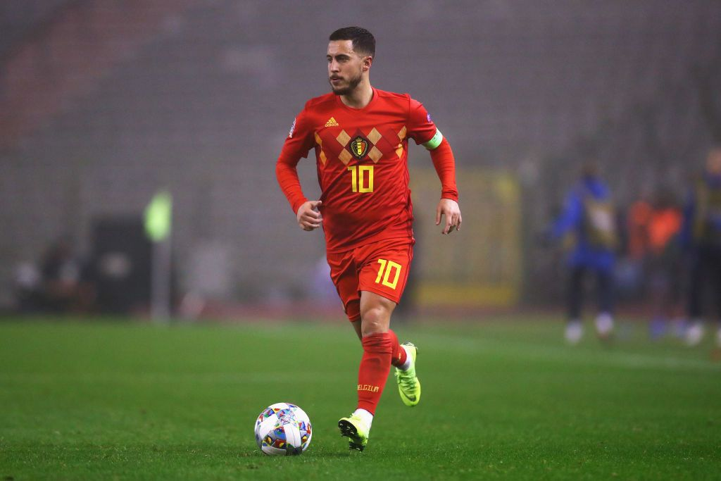GLASGOW, SCOTLAND - SEPTEMBER 07:  Eden Hazard of Belgium is pictured prior to the International Friendly match between Scotland and Belgium at Hampden Park on September 7, 2018 in Glasgow, United Kingdom.  (Photo by Ian MacNicol/Getty Images)