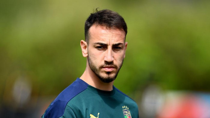 SANTA MARGHERITA DI PULA, ITALY - MAY 27: Gaetano Castrovilli of Italy in action during a Italy training session at Forte Village Resort on May 27, 2021 in Santa Margherita di Pula, Italy. (Photo by Claudio Villa/Getty Images)