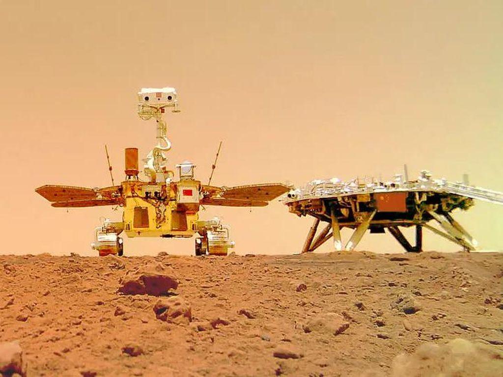 China Rilis Rute Perjalanan Robot Zhurong Selama di Mars