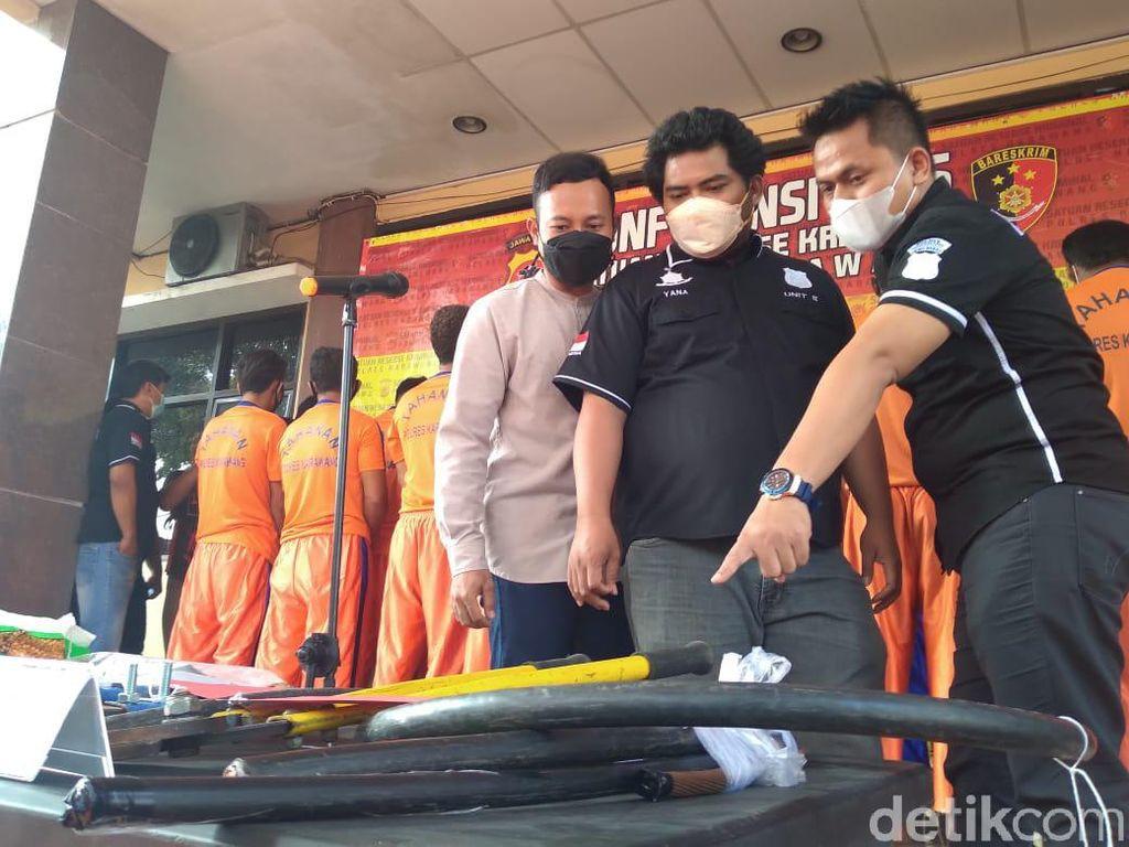 Kawanan Pencuri Kabel Power PLTGU di Karawang Ditangkap
