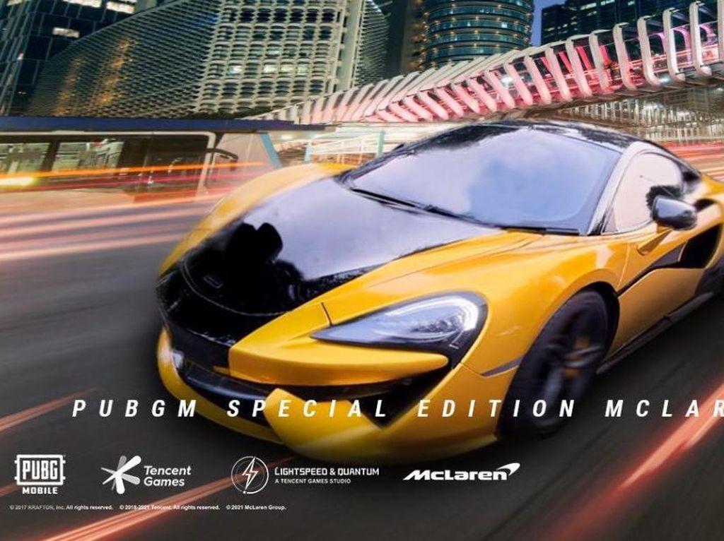 PUBG Mobile Boyong Supercar McLaren keJalanan Jakarta