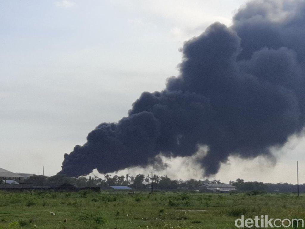 Asap Masih Membubung, Ada Titik Api Baru di Area Pertamina Cilacap