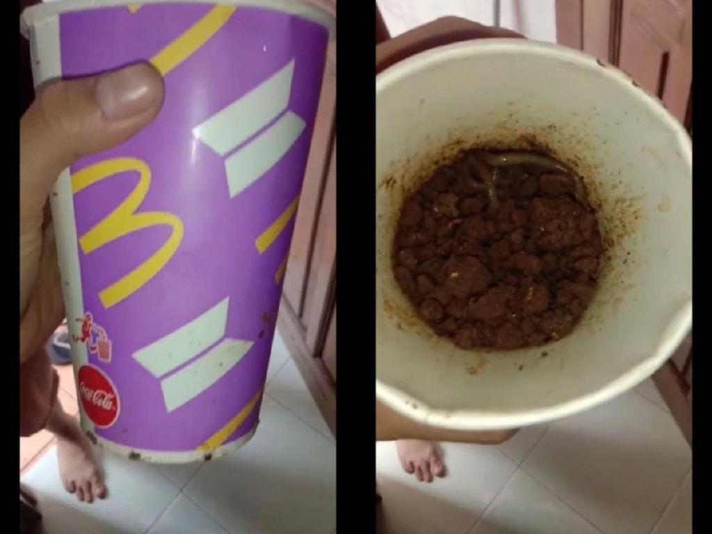 Sedih! Gelas BTS Meal Netizen Ini Dijadikan Wadah Cacing oleh Sang Ayah