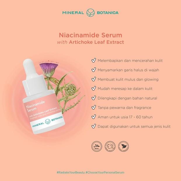 Serum niacinamide yang mampu menghilangkan bekas jerawat sekaligus menyamarkan garis halus dan pori-pori.