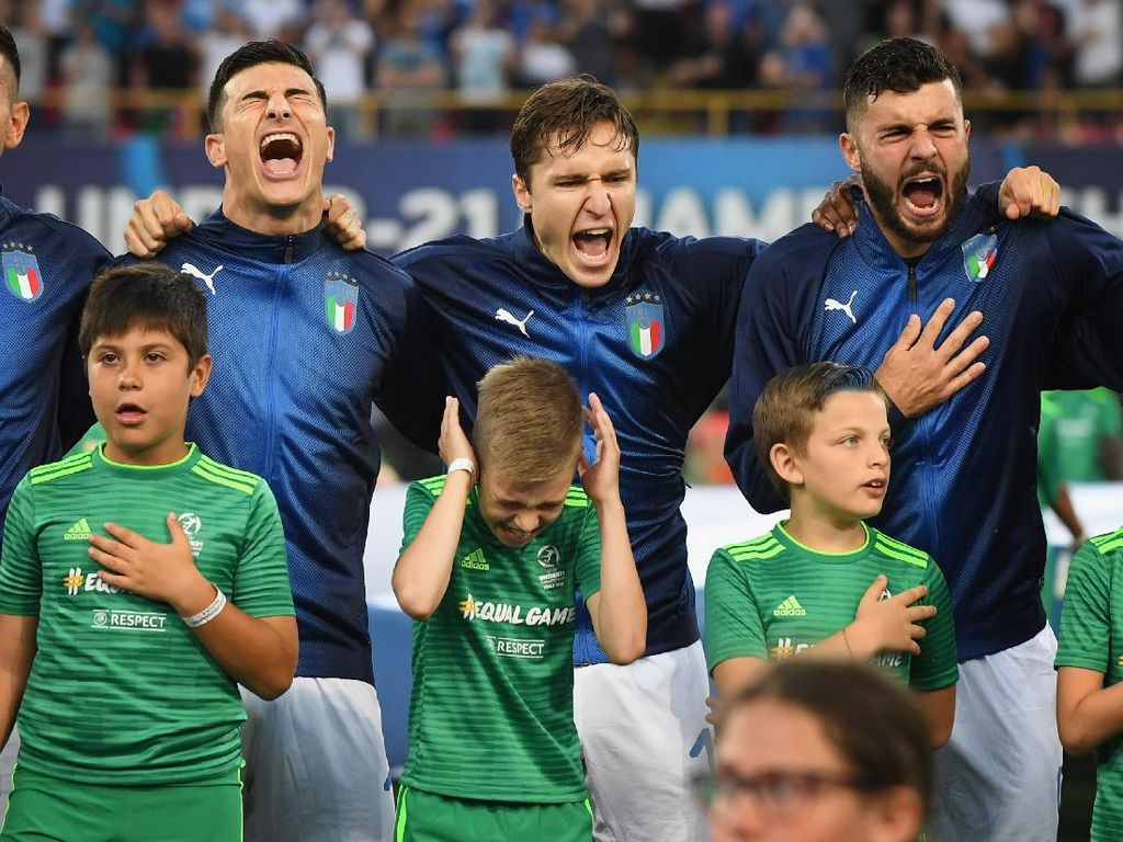 Euro 2020: Dear Fans, Ini Cara Lain Nikmati Lagu Kebangsaan Italia