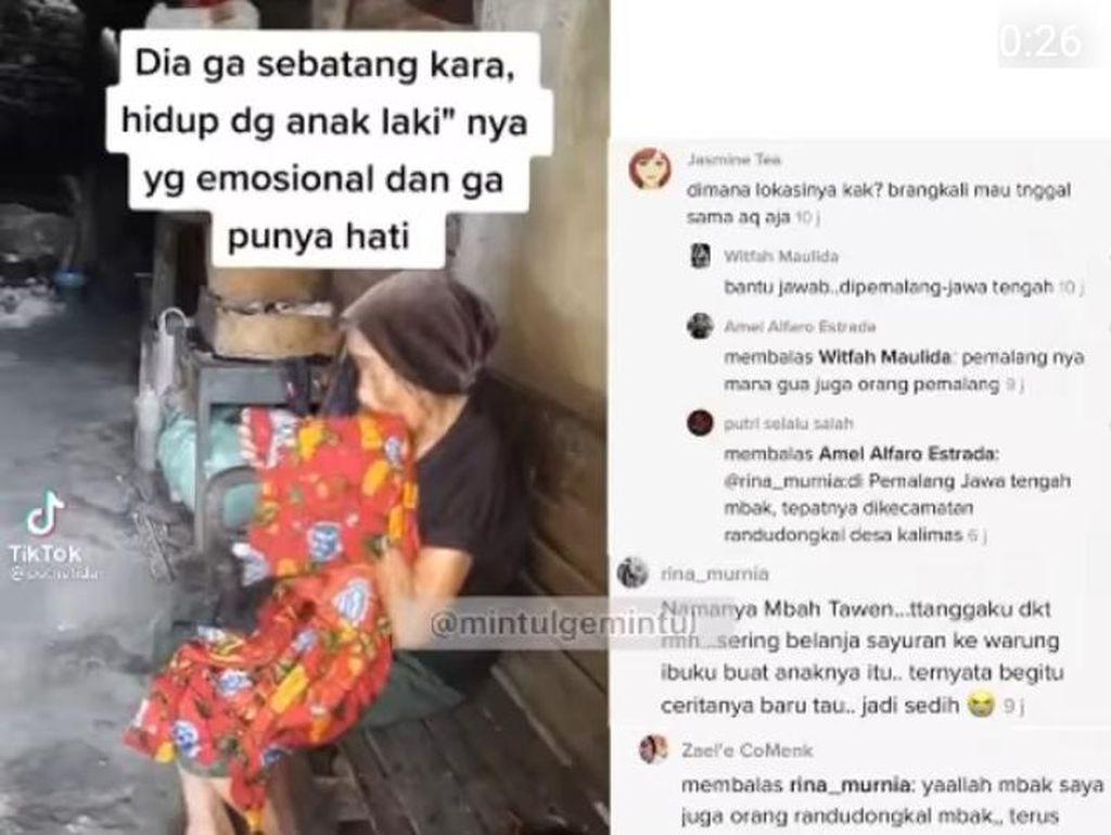 Viral Kisah Nenek Tawen di Pemalang Kerap Dimaki Anak, Ini Faktanya