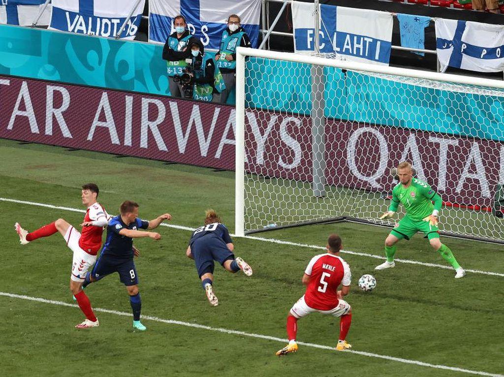Hasil Euro 2020: Finlandia Tumbangkan Denmark 1-0