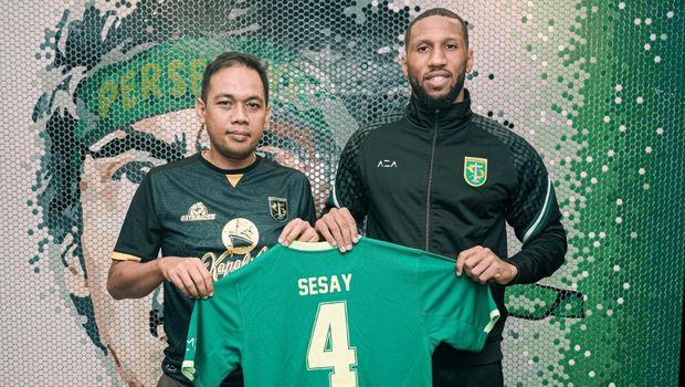 Alie Sesay, pemain asing paling anyar Persebaya.