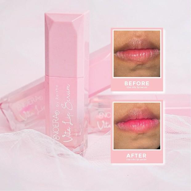 Noera Vita Lip Serum Gel meresap dan menghindrasi bibir