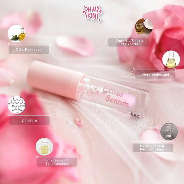 Oh My Skin! Lip & Gloss Hydrating Serum untuk bibir lebih lembab
