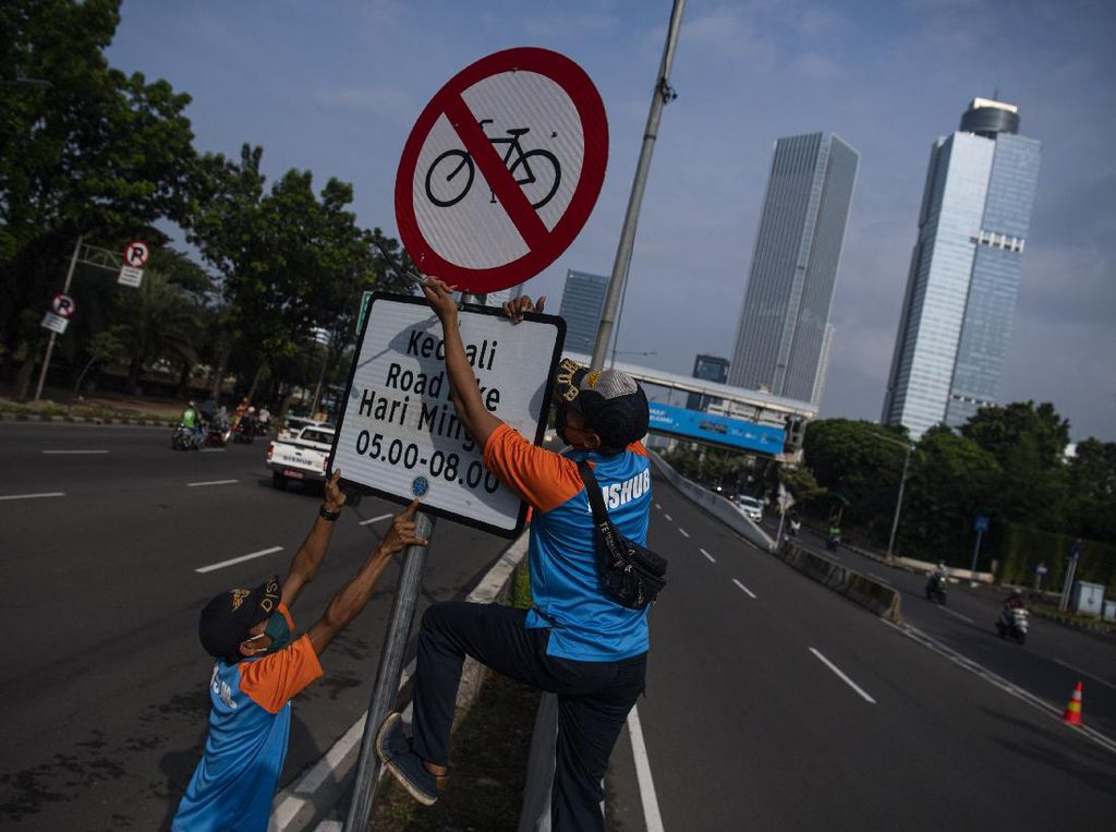 Diprotes, Rambu Khusus Road Bike di JLNT Kp Melayu Akhirnya Dicopot