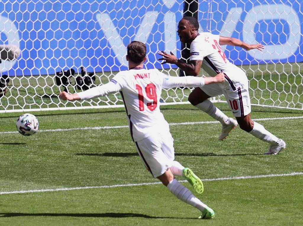 Hasil Inggris vs Kroasia: Gol Sterling Menangkan The Three Lions