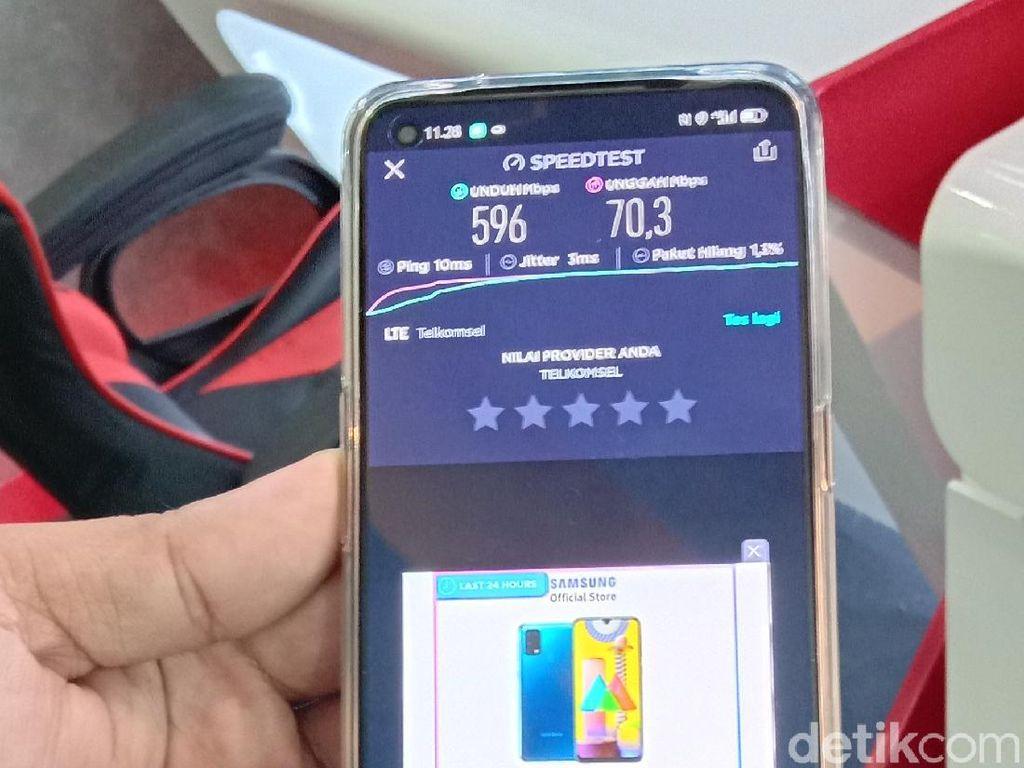 Jajal Jaringan 5G di Medan Sampai 596 Mbps