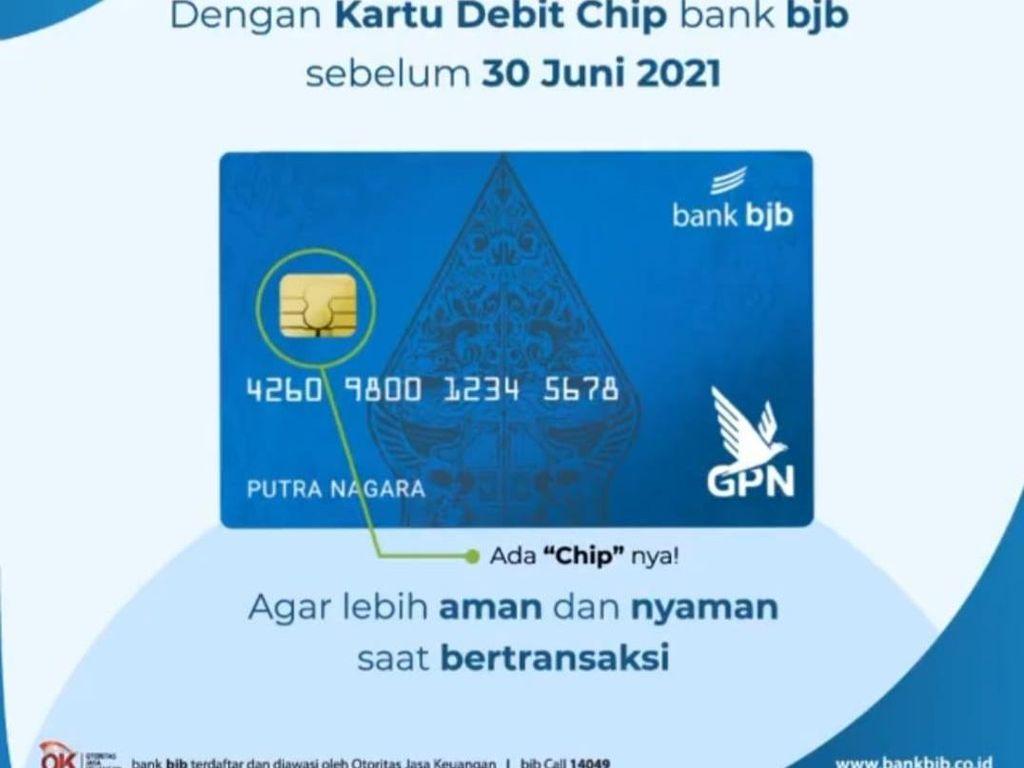 Mudah dan Gratis, Ini Syarat Ganti Kartu Debit Chip bank bjb