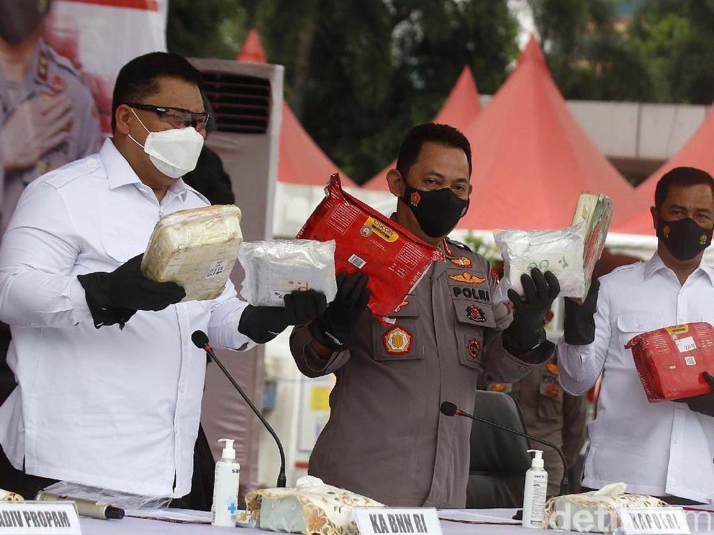 Sabu 1,1 Ton Senilai Rp 1,6 T Digagalkan Polisi, Akan Diedarkan di Jawa