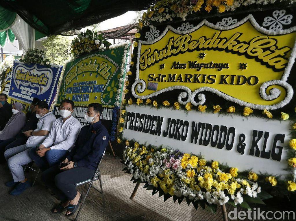 Ada Karangan Bunga dari Jokowi di Rumah Duka Markis Kido