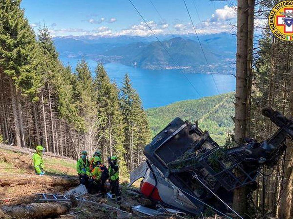 Kecelakaan Gondola di Italia Tewaskan 14 Orang, Teknisi Jadi Tersangka