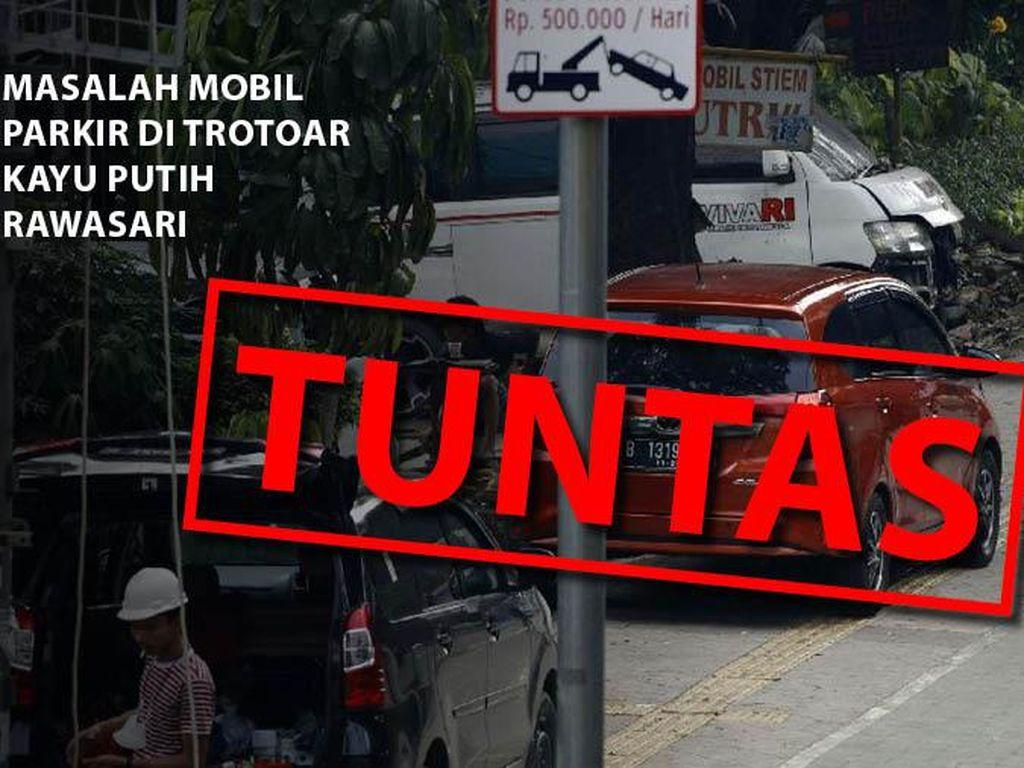 Before-After Pembatas Trotoar Dipasang Halau Parkir Liar di Rawasari Jakpus