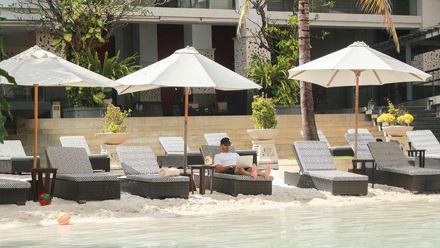 =Pemandangan hotel The Trans Resort Bali.