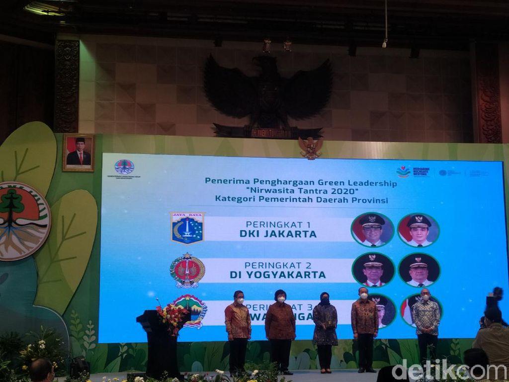 Anies Peringkat I Green Leadership dari KLHK, Disusul Sultan dan Ganjar