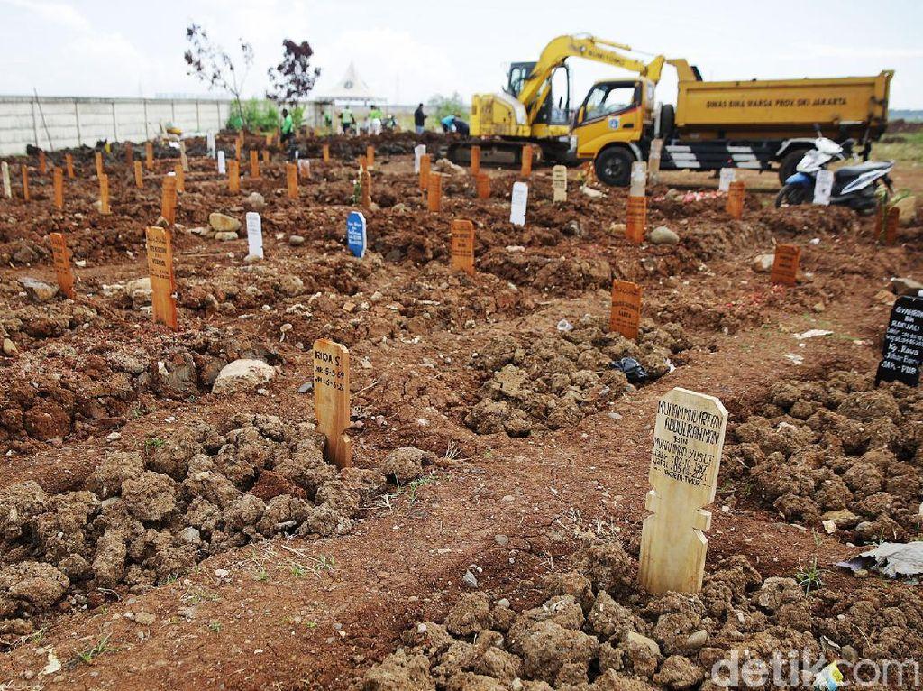 Dinkes DKI: Ada 396 Pemakaman Protap COVID, 45 Orang Meninggal di Rumah