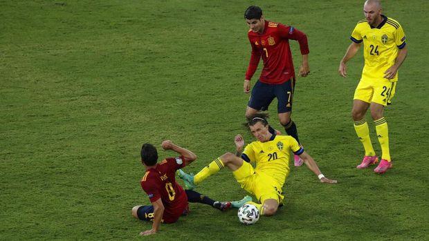 Pertandingan Grup E Euro 2020 antara Spanyol dan Swedia berakhir tanpa pemenang. Pertandingan yang berlangsung di La Cartuja stadium itu berakhir 0-0.