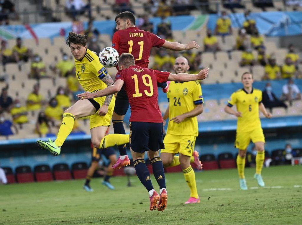 Babak I Selesai, Spanyol Vs Swedia Masih Tanpa Gol