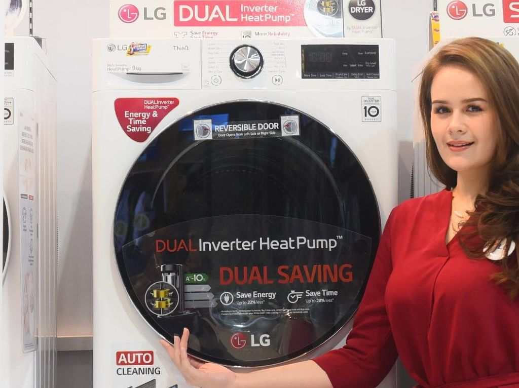 Canggihnya LG Dual Inverter HeatPump, Pengering Pakaian Berfitur AI dan WiFi