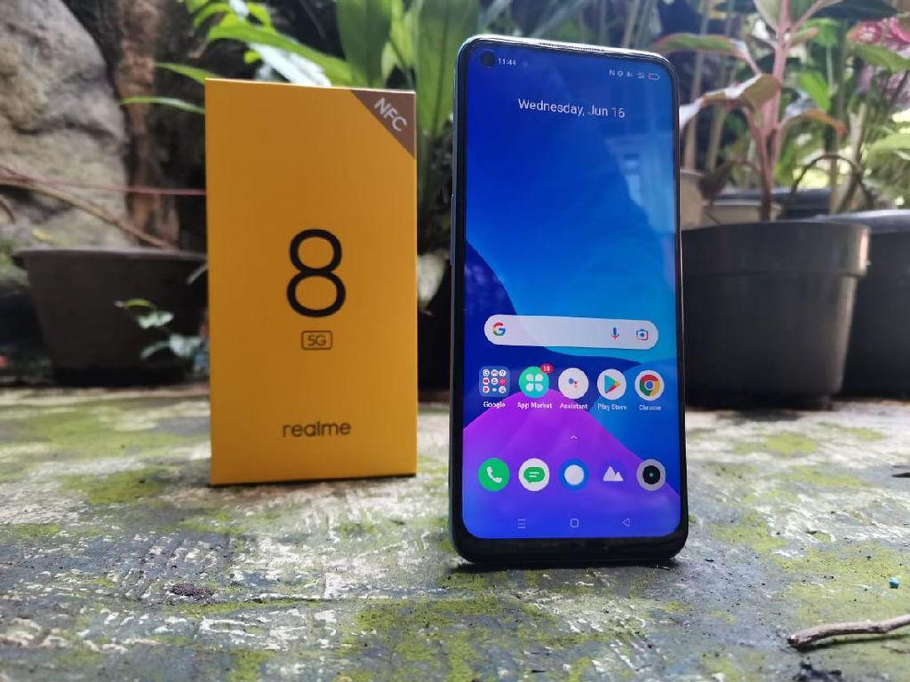 HP Realme 8 5G, Layar Smooth Asoy Buat Gaming