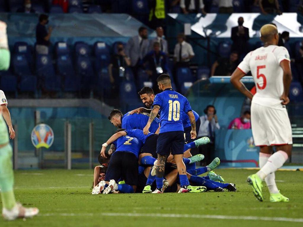 Hasil Italia Vs Swiss: Gli Azzurri Menang 3-0, Lolos ke Babak 16 Besar