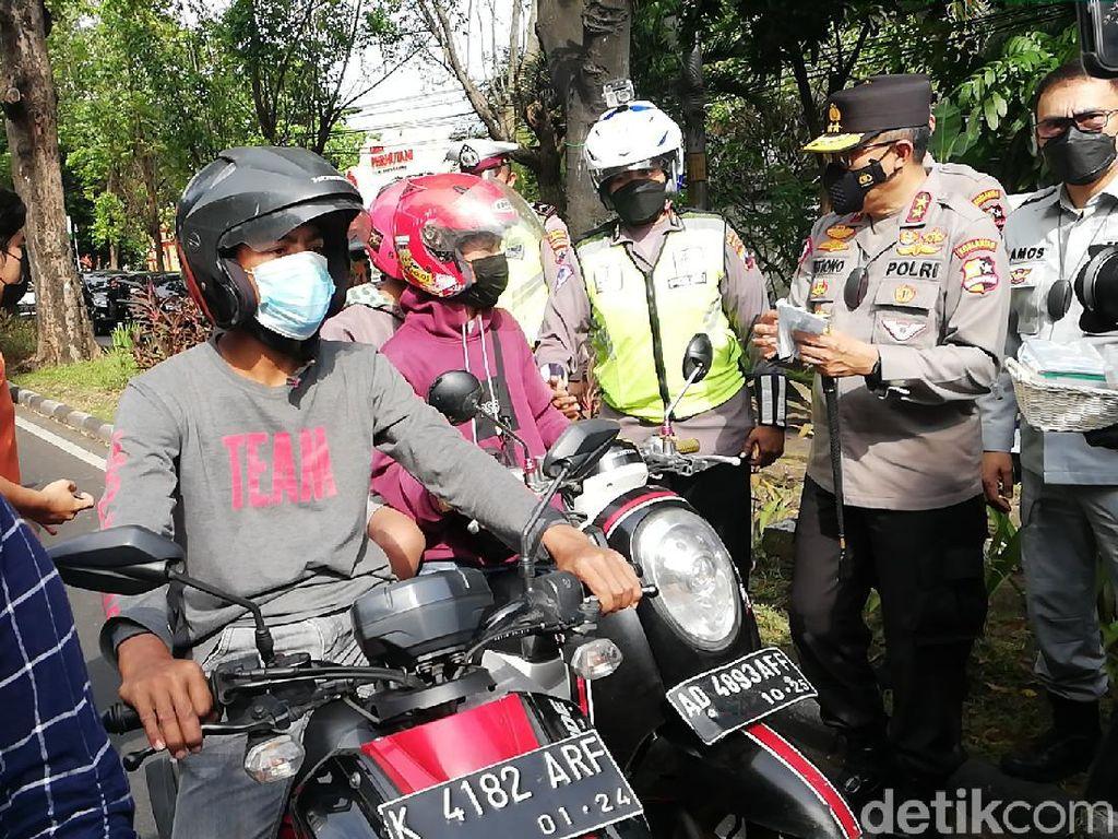 Kakorlantas: Kemacetan di Penyekatan Lenteng Agung Berkurang