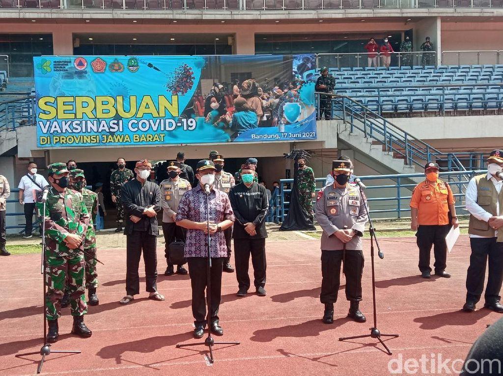 Panglima TNI-Kapolri Optimis Program 1 Juta Vaksinasi Sehari Tercapai