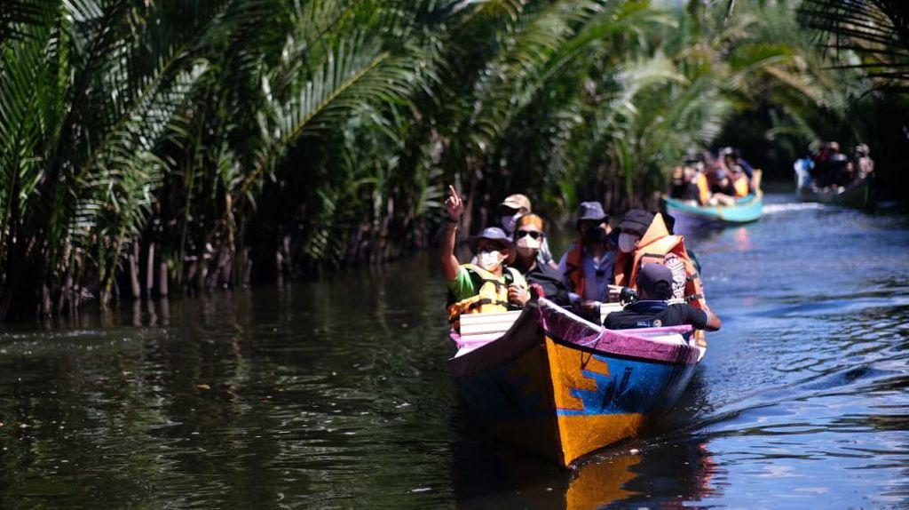 Momen Sandi Jelajah Desa Wisata Ramang-rammang